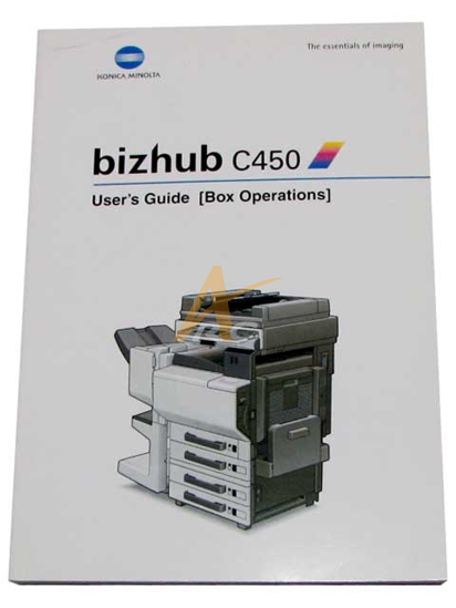 Picture of User's Guide (Box Operation) for Bizhub C450