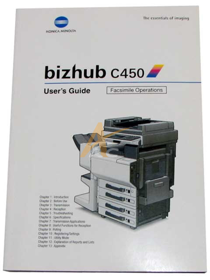 Picture of User's Guide (Facsimile Operations) for Bizhub C450