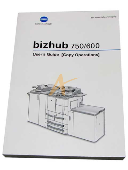 Picture of User's Guide (Copy Operations) for Bizhub 750 600