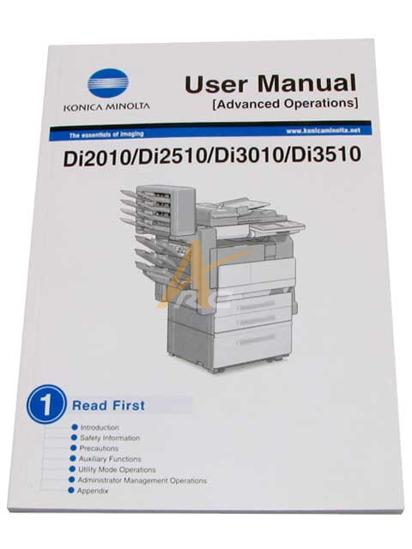 Picture of User's Manual (Advanced Operations) for Konica Minolta Di2010 Di2510