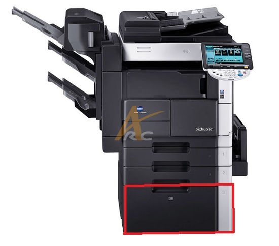 Picture of Konica Minolta PC-407 Large Capacity Cabinet (2,500-Sheets, letter size)
