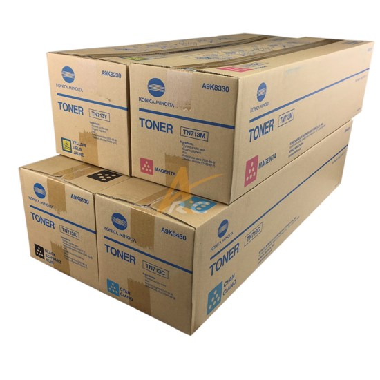 Picture of Konica Minolta TN713 Toner Set for Bizhub C659 C759