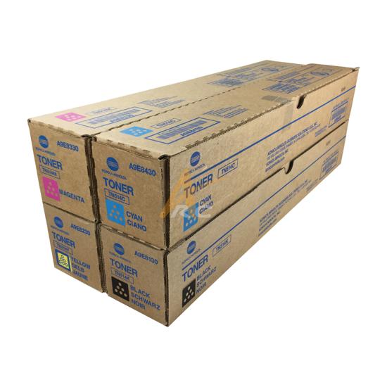 Picture of Konica Minolta TN514 CMYK Toner Set for bizhub C458 C558 C658