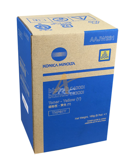 Picture of Konica Minolta TNP81Y Yellow Toner AAJW231  for bizhub C3300i C4000i