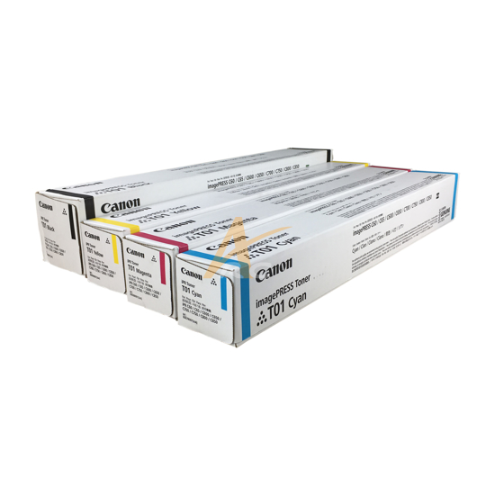 Picture of Canon T01 Toner Cartridge Set Black, Cyan, Magenta, Yellow
